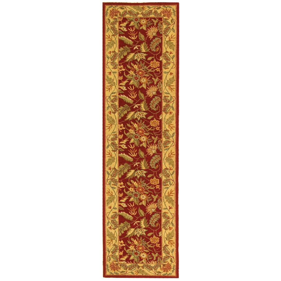 Safavieh Chelsea Spring Red Indoor Handcrafted Lodge Runner (Common: 2 x 10; Actual: 2.5-ft W x 10-ft L)