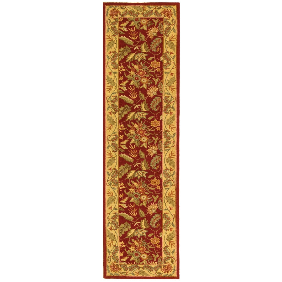 Safavieh Chelsea Spring Red/Multi Rectangular Indoor Handcrafted Lodge Runner (Common: 2 X 12; Actual: 2.5-ft W x 12-ft L)