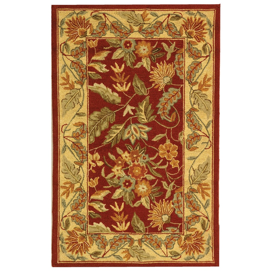Safavieh Chelsea Spring Red Indoor Handcrafted Lodge Throw Rug (Common: 2 x 4; Actual: 2.5-ft W x 4-ft L)