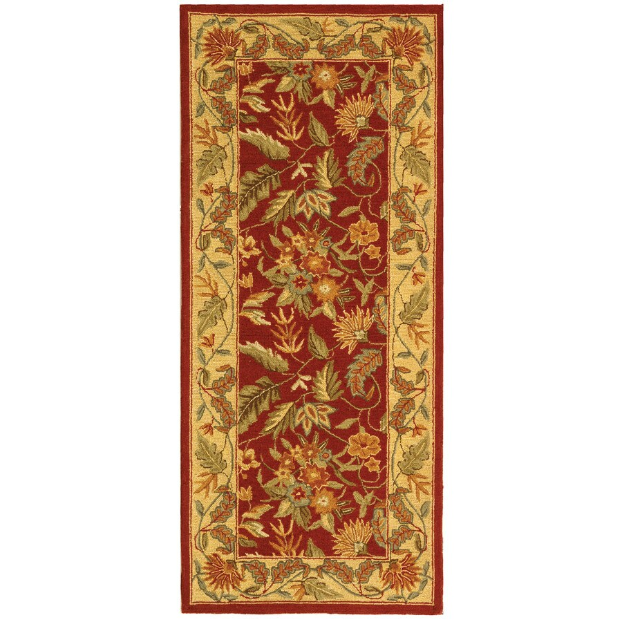 Safavieh Chelsea Spring Red/Multi Rectangular Indoor Handcrafted Lodge Runner (Common: 2 X 6; Actual: 2.5-ft W x 6-ft L)