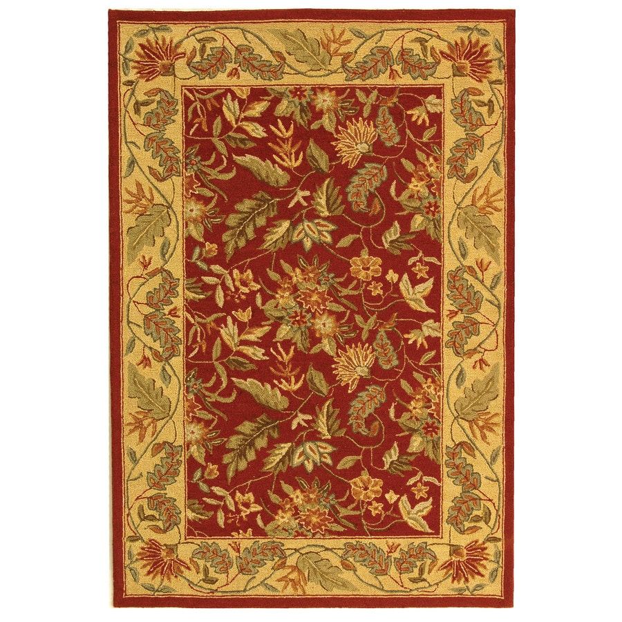 Safavieh Chelsea Spring Red/Multi Rectangular Indoor Handcrafted Lodge Throw Rug (Common: 3 x 5; Actual: 3.75-ft W x 5.75-ft L)