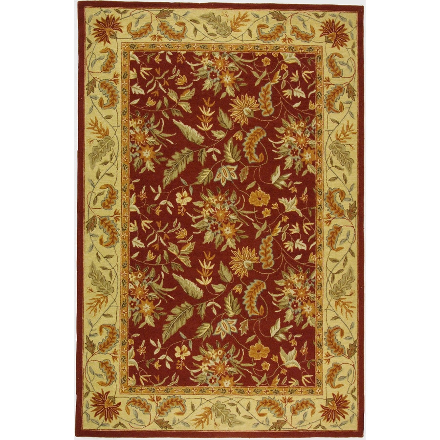 Safavieh Chelsea Spring Red Indoor Handcrafted Lodge Area Rug (Common: 6 x 9; Actual: 6-ft W x 9-ft L)
