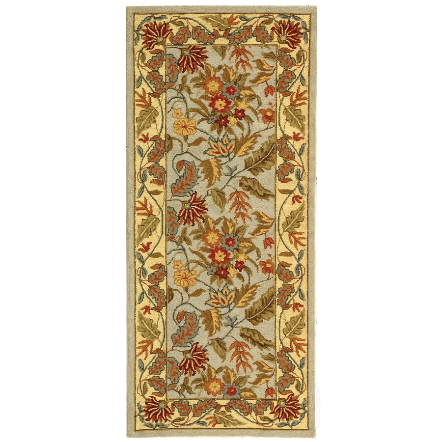 Safavieh Chelsea Spring Light Blue and Multi Rectangular Indoor Handcrafted Lodge Runner (Common: 2 x 6; Actual: 2.5-ft W x 6-ft L)
