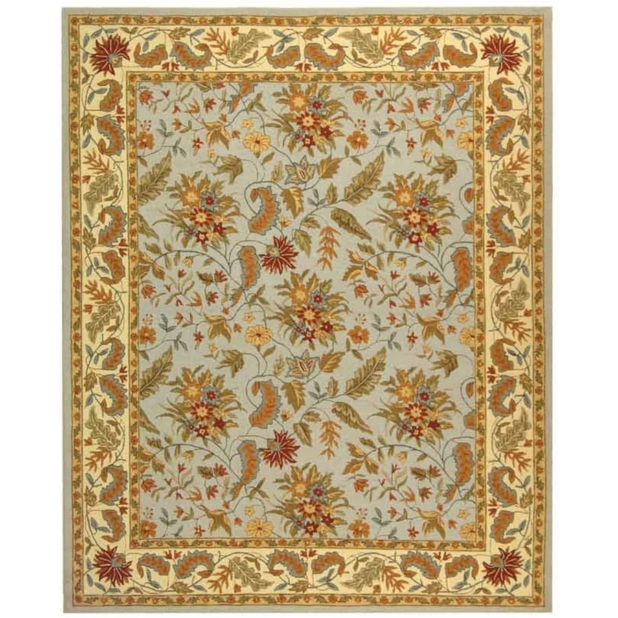 Safavieh Chelsea Spring Light Blue And Indoor Handcrafted Lodge Area Rug (Common: 6 x 9; Actual: 6-ft W x 9-ft L)