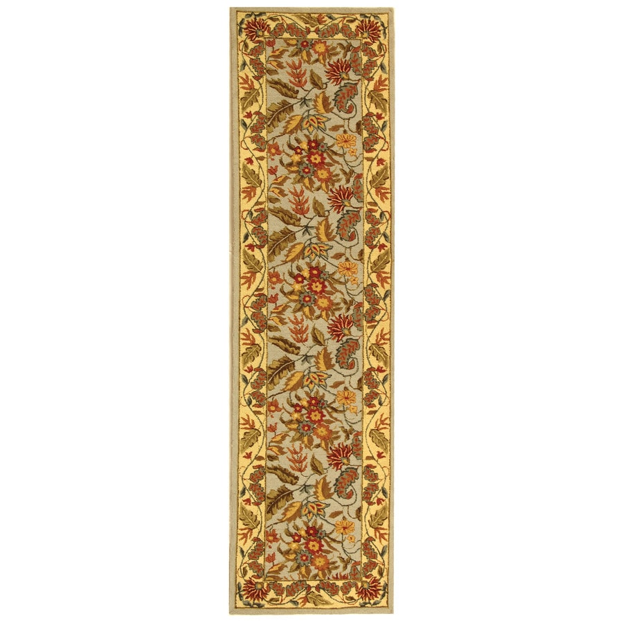 Safavieh Chelsea Spring Light Blue And Indoor Handcrafted Lodge Runner (Common: 2 x 8; Actual: 2.5-ft W x 8-ft L)