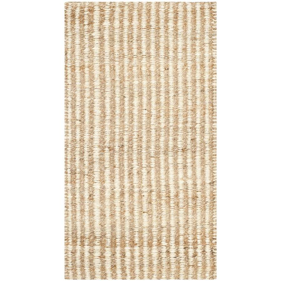 Safavieh Natural Fiber Caicos Natural/Ivory Indoor Handcrafted Coastal Throw Rug (Common: 2 x 4; Actual: 2.25-ft W x 4-ft L)