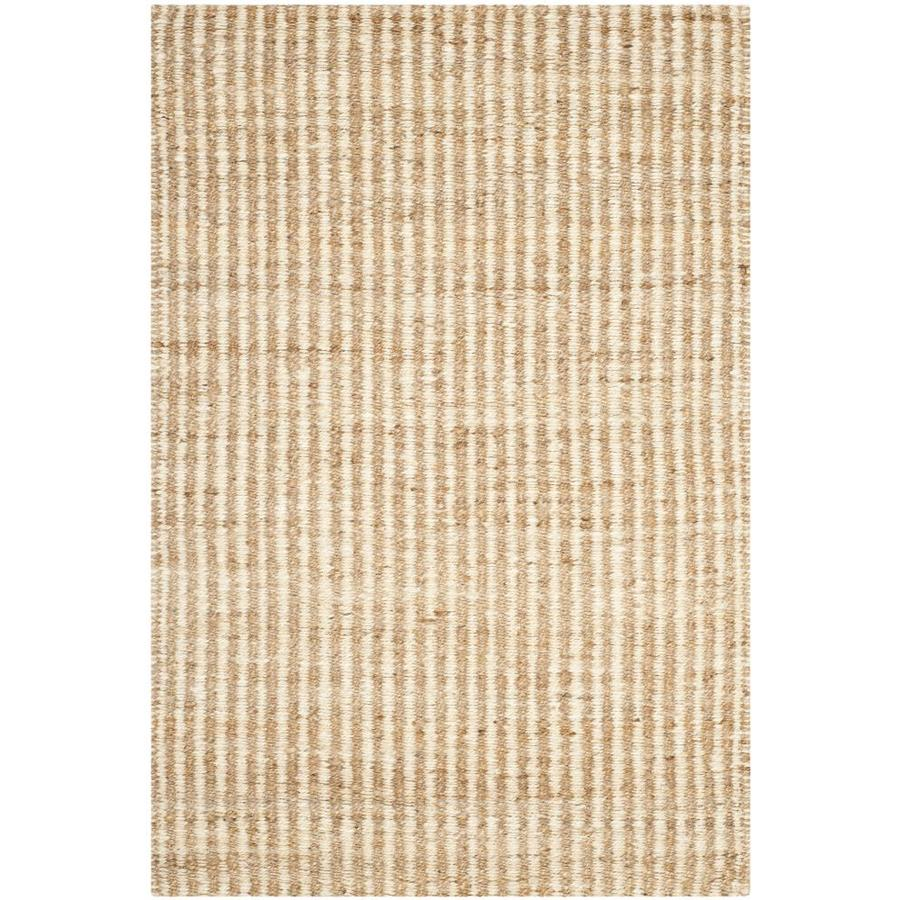 Safavieh Natural Fiber Caicos Natural/Ivory Rectangular Indoor Handcrafted Coastal Throw Rug (Common: 3 x 5; Actual: 3-ft W x 5-ft L)