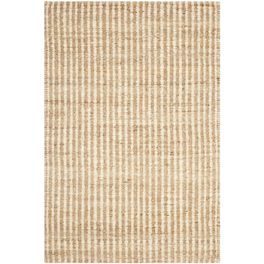 Safavieh Natural Fiber Caicos Natural/Ivory Indoor Handcrafted Coastal Area Rug (Common: 4 x 6; Actual: 4-ft W x 6-ft L)