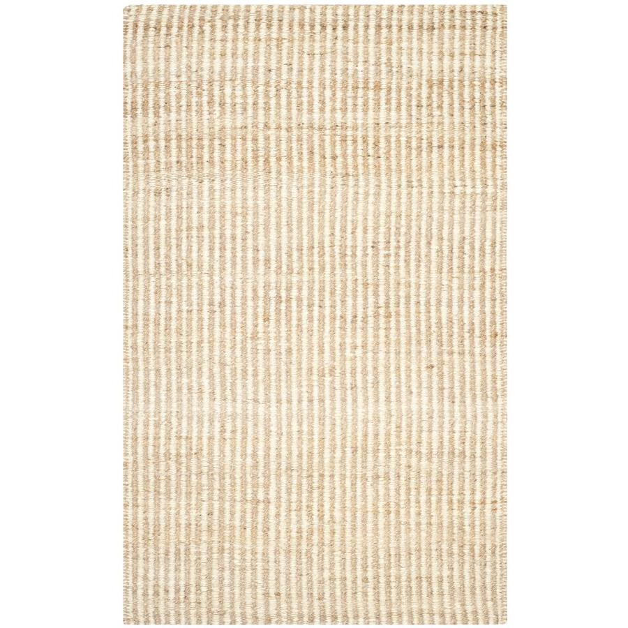 Safavieh Natural Fiber Caicos Natural/Ivory Rectangular Indoor Handcrafted Coastal Area Rug (Common: 5 x 8; Actual: 5-ft W x 8-ft L)
