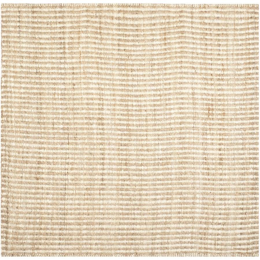 Safavieh Natural Fiber Caicos Natural/Ivory Square Indoor Handcrafted Coastal Area Rug (Common: 7 x 7; Actual: 7-ft W x 7-ft L)