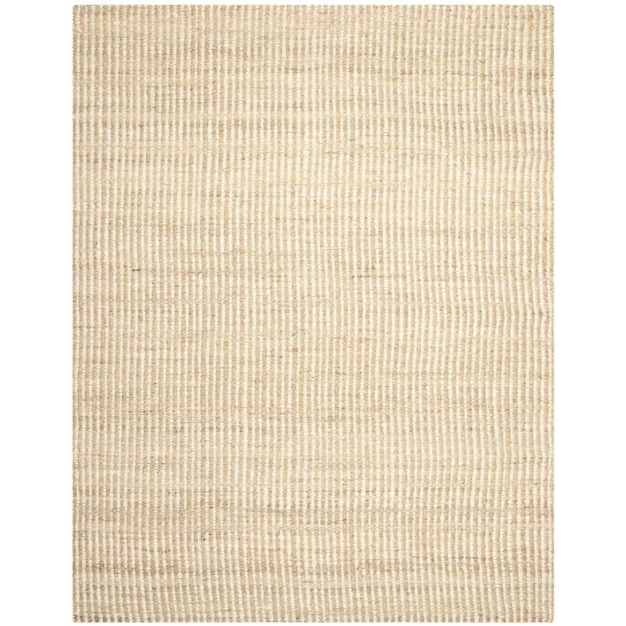 Safavieh Natural Fiber Caicos Natural/Ivory Indoor Handcrafted Coastal Area Rug (Common: 9 x 12; Actual: 9-ft W x 12-ft L)