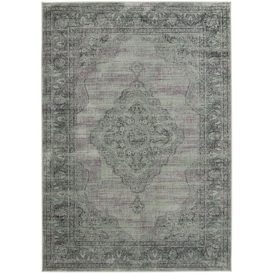 Safavieh Vintage Light Blue Rectangular Indoor Machine-Made Distressed Area Rug (Common: 6 x 9; Actual: 6.583-ft W x 9.167-ft L)