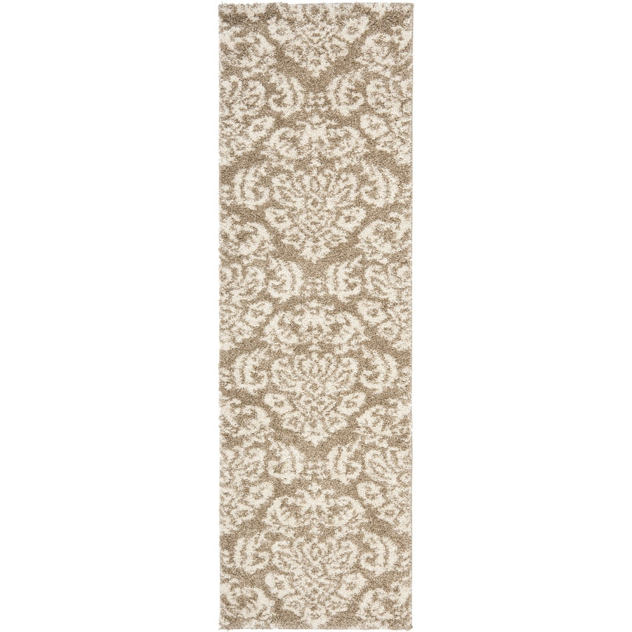 Safavieh Balin Shag Beige/Cream Indoor Tropical Runner (Common: 2 x 9; Actual: 2.25-ft W x 9-ft L)