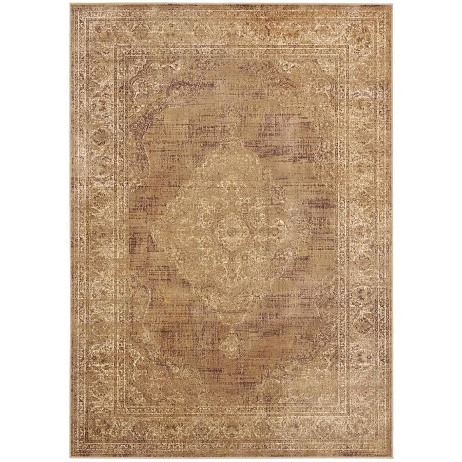 Safavieh Vintage Taupe Rectangular Indoor Machine-Made Distressed Area Rug (Common: 6 x 9; Actual: 6.583-ft W x 9.167-ft L)