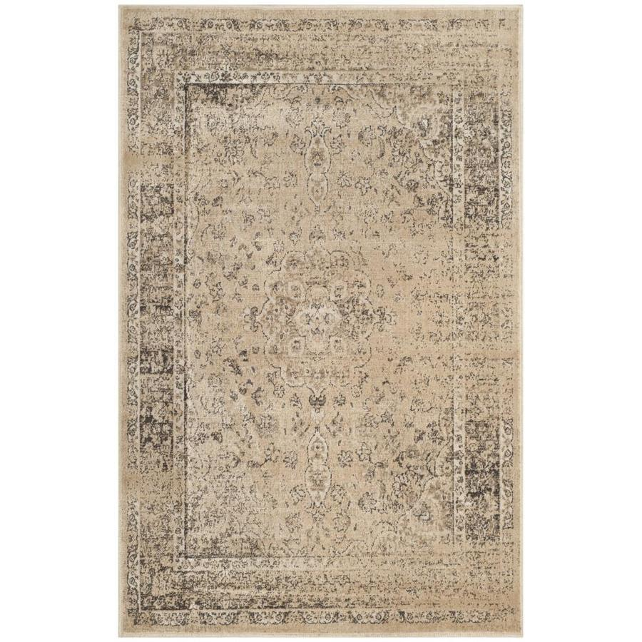 Shop safavieh vintage alhia warm beige rectangular indoor for Warm rugs