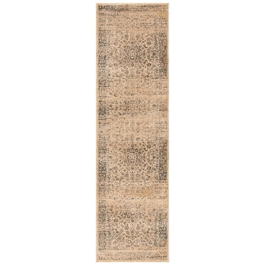 Safavieh Vintage Warm Beige Rectangular Indoor Machine-Made Distressed Runner (Common: 2 X 8; Actual: 2.167-ft W x 8-ft L)