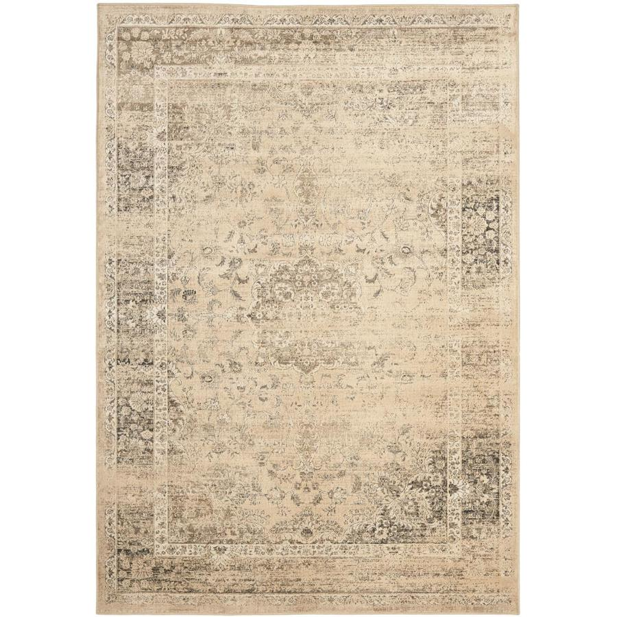 Safavieh Vintage Alhia Warm Beige Rectangular Indoor Machine-made Distressed Area Rug (Common: 6 x 9; Actual: 6.6-ft W x 9.2-ft L)