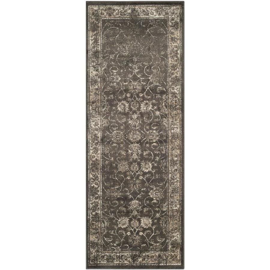 Safavieh Vintage Mosed Soft Anthracite Indoor Distressed Runner (Common: 2 x 6; Actual: 2.2-ft W x 6-ft L)