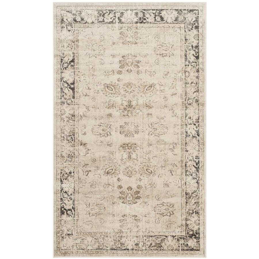 Safavieh Vintage Mosed Stone Rectangular Indoor Machine-made Distressed Throw Rug (Common: 3 x 5; Actual: 3.25-ft W x 5.6-ft L)