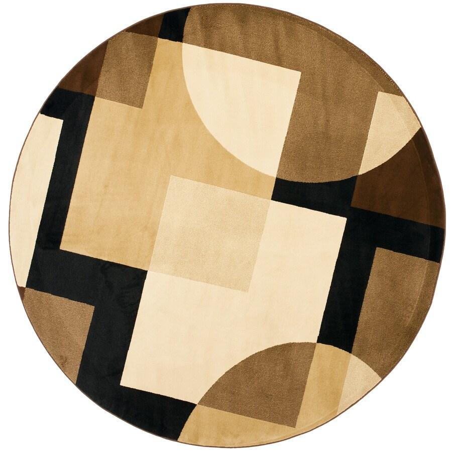 Safavieh Porcello Malena Black/Multi Round Indoor Machine-made Area Rug (Common: 5 x 5; Actual: 5-ft W x 5-ft L x 5-ft Dia)