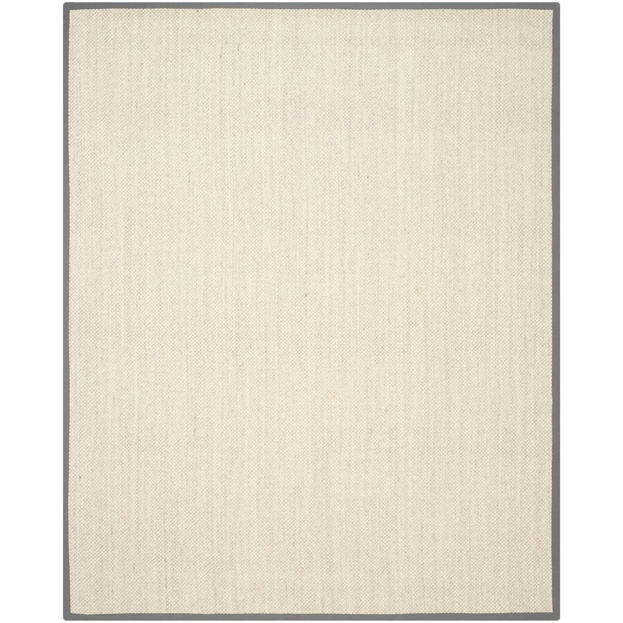 Safavieh Natural Fiber Kismet Marble/Gray Indoor Coastal Area Rug (Common: 10 x 14; Actual: 10-ft W x 14-ft L)