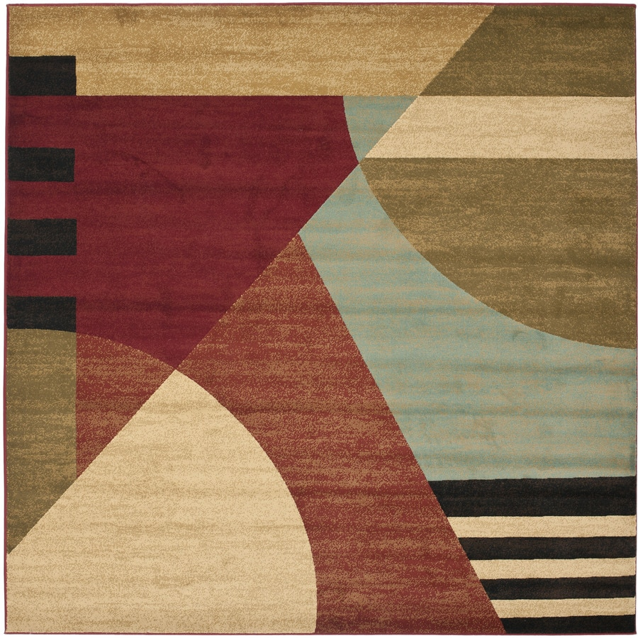 Safavieh Porcello Wright Square Indoor Area Rug (Common: 5 x 5; Actual: 5-ft W x 5-ft L)