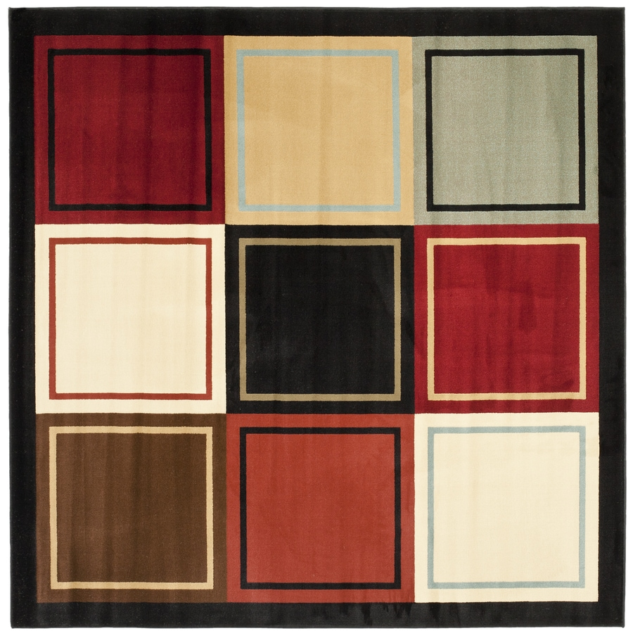 Safavieh Porcello Multi Square Indoor Machine-Made Novelty Area Rug (Common: 5 x 5; Actual: 5-ft W x 5-ft L)