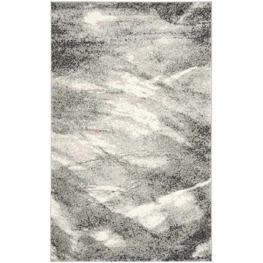 Safavieh Retro Azusa Gray/Ivory Indoor Distressed Area Rug (Common: 9 x 12; Actual: 8.75-ft W x 12-ft L)