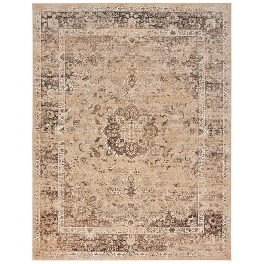 Safavieh Vintage Warm Beige Rectangular Indoor Machine-Made Distressed Area Rug (Common: 8 X 11; Actual: 8.833-ft W x 12.167-ft L)