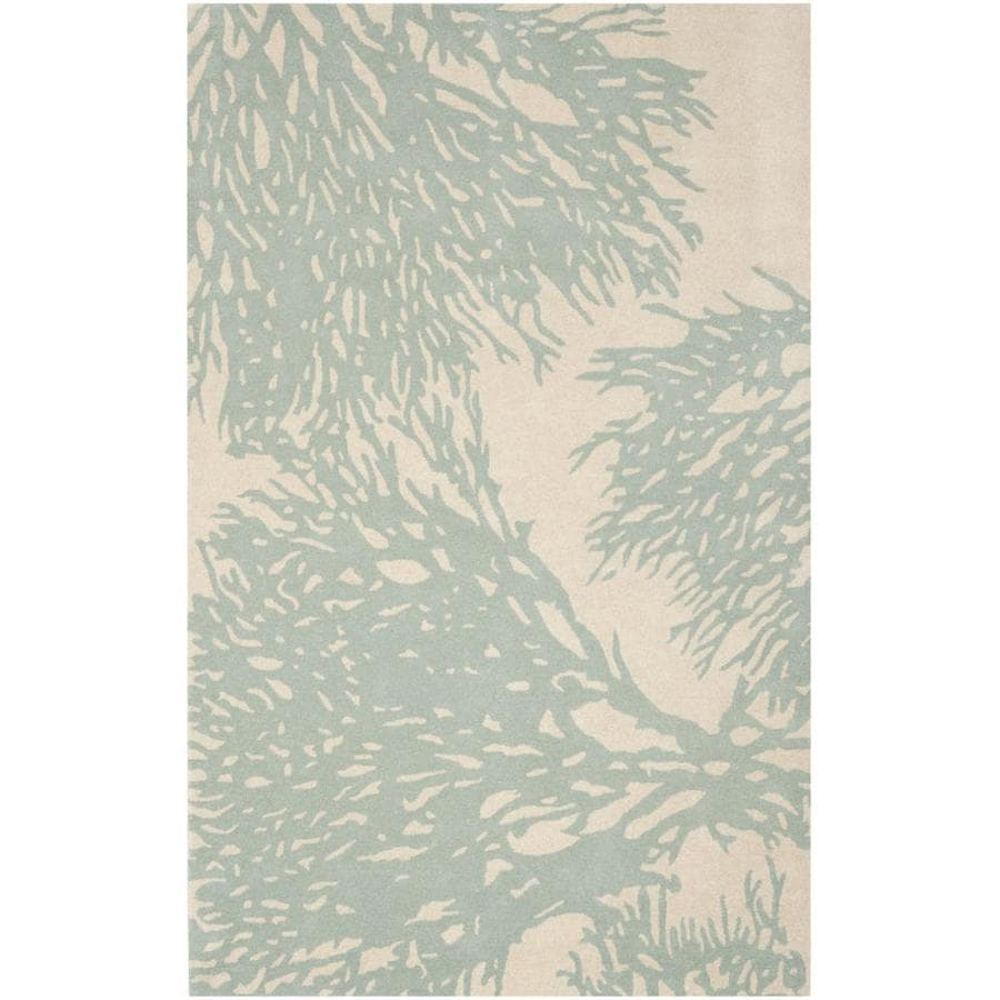 Safavieh Bella Beige/Blue Rectangular Indoor Tufted Area Rug (Common: 5 x 8; Actual: 5-ft W x 8-ft L x 0-ft Dia)