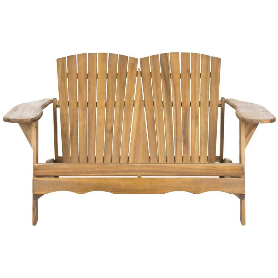 Safavieh Hantom 57.5-in W x 38-in L Natural Patio Bench