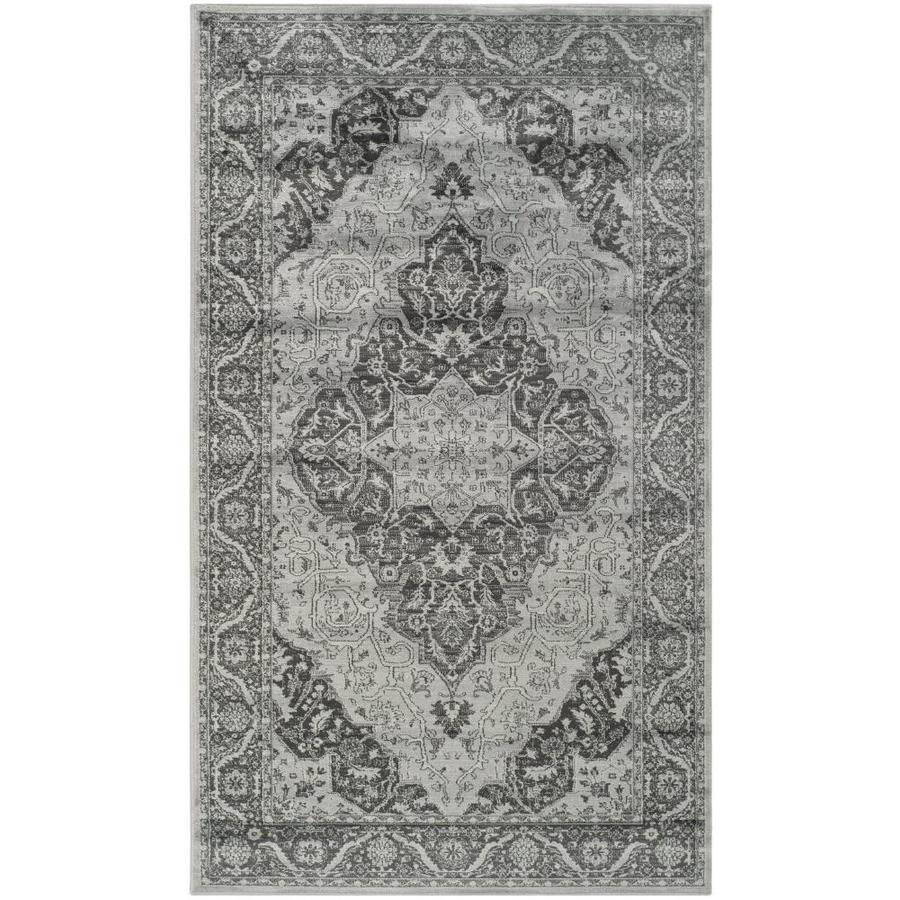 Safavieh Vintage Tabbas Light Blue/Multi Rectangular Indoor Machine-made Distressed Throw Rug (Common: 3 x 5; Actual: 3.25-ft W x 5.6-ft L)