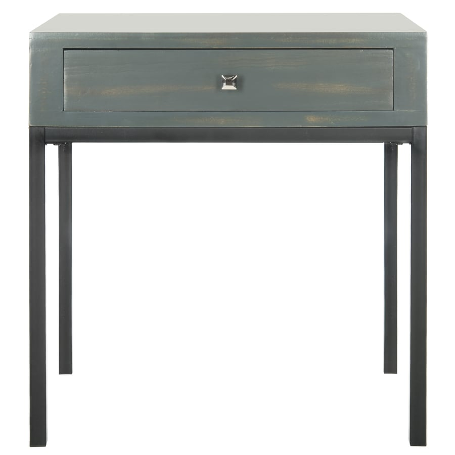 Safavieh Siobhan Steel Teal Pine End Table