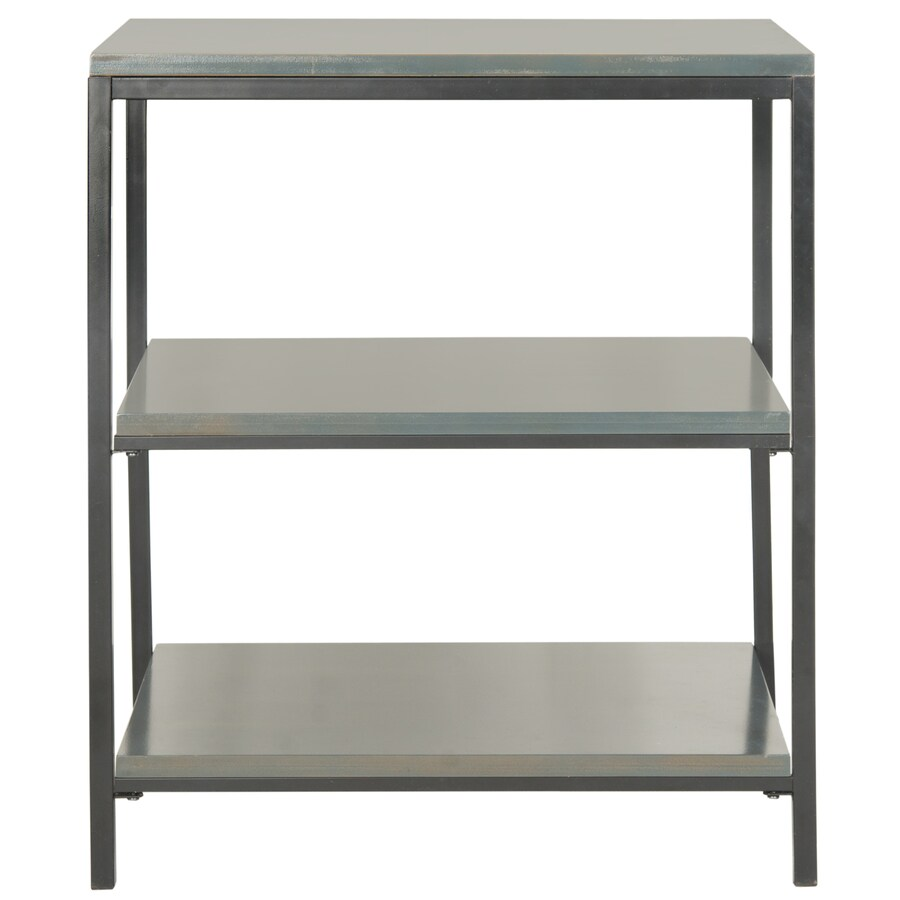 Safavieh American Home Steel Teal 24-in W x 28.1-in H x 18.1-in D 3-Shelf Bookcase