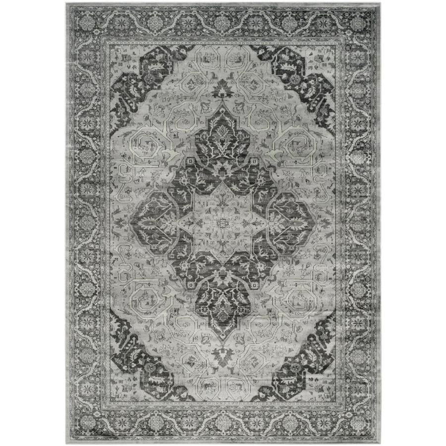 Safavieh Vintage Light Blue/Multi Rectangular Indoor Machine-Made Distressed Area Rug (Common: 8 x 12; Actual: 8.833-ft W x 12.167-ft L)