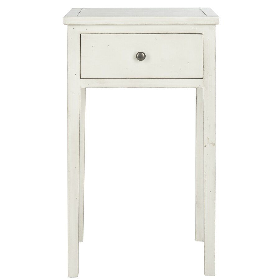 Safavieh Toby White Poplar End Table