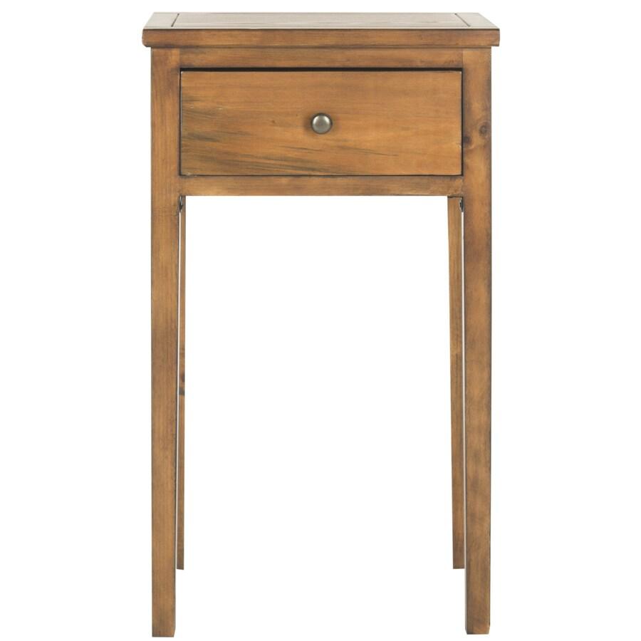 Safavieh Toby Filbert Brown Pine End Table