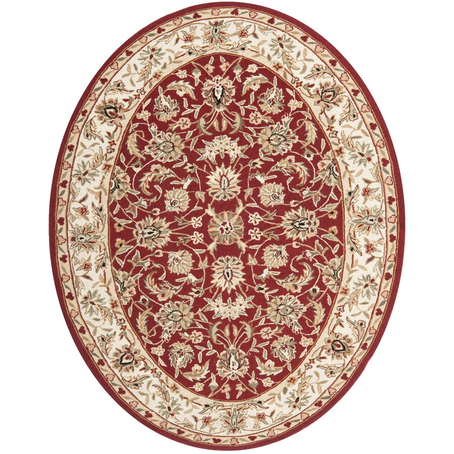 Safavieh Chelsea York Burgundy Ivory Oval Indoor