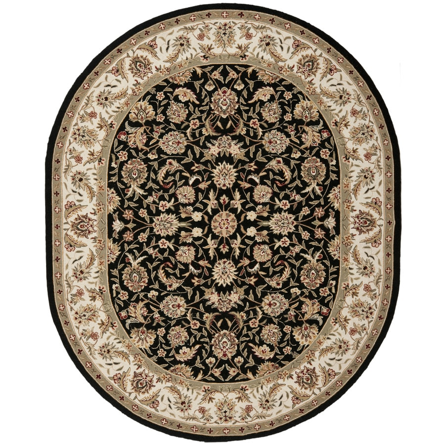 Safavieh Chelsea York Black Oval Indoor Handcrafted Lodge Area Rug (Common: 7 x 9; Actual: 7.5-ft W x 9.5-ft L)
