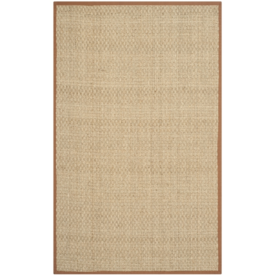 Safavieh Natural Fiber Hampton Natural/Brown Indoor Coastal Area Rug (Common: 4 x 6; Actual: 4-ft W x 6-ft L)