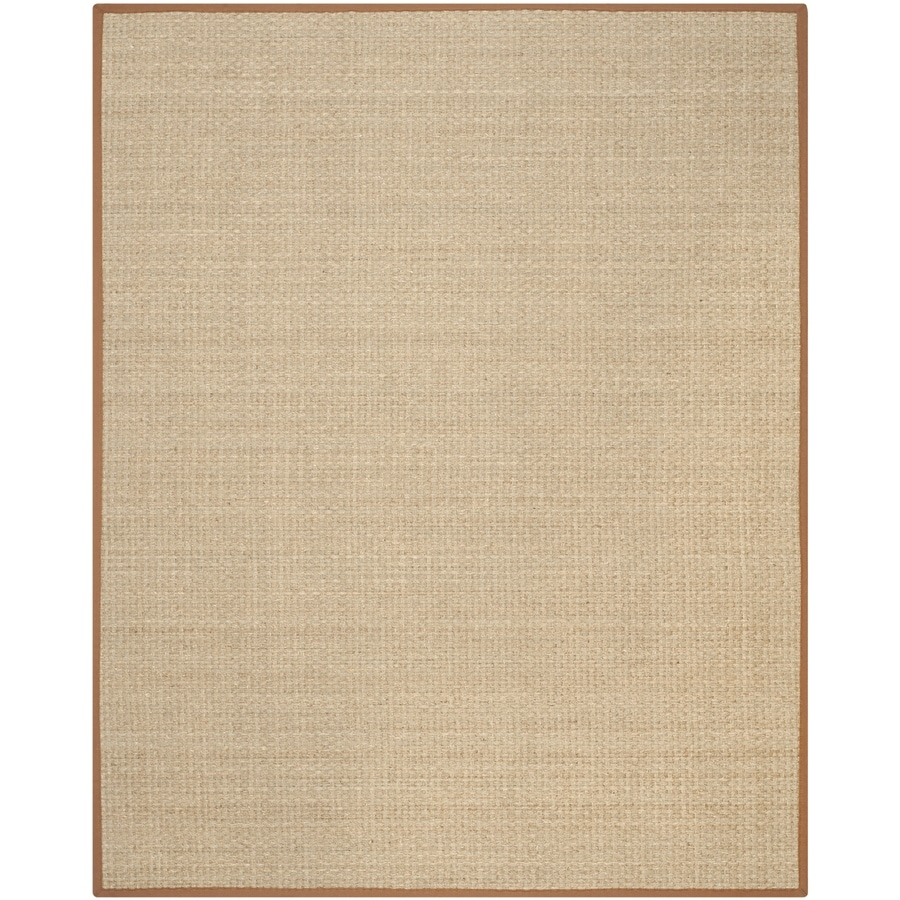 Safavieh Natural Fiber Hampton Natural/Brown Indoor Coastal Area Rug (Common: 8 x 10; Actual: 8-ft W x 10-ft L)