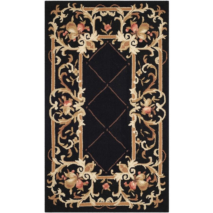 Safavieh Chelsea Anjou Black Rectangular Indoor Handcrafted Lodge Throw Rug (Common: 3 x 5; Actual: 2.75-ft W x 4.75-ft L)