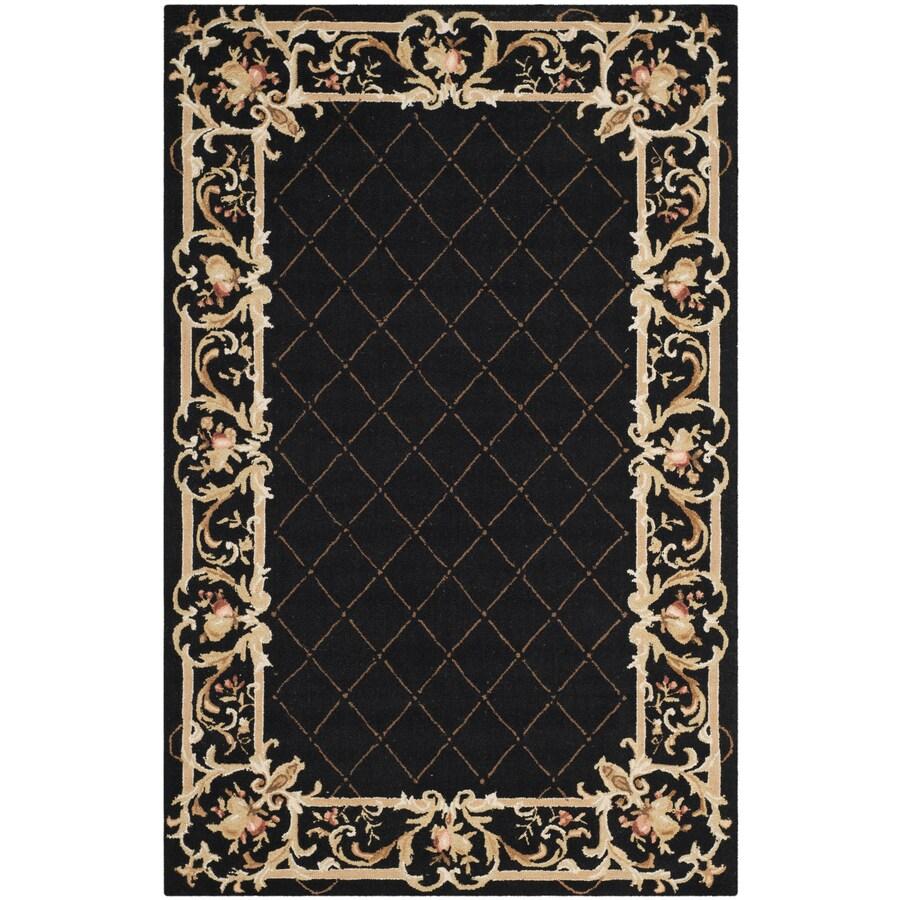 Safavieh Chelsea Anjou Black Rectangular Indoor Handcrafted Lodge Area Rug (Common: 5 X 8; Actual: 5.25-ft W x 8.25-ft L)
