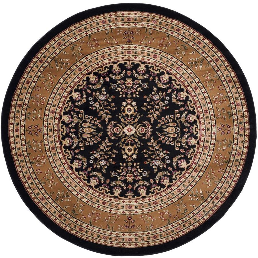 Shop Safavieh Lyndhurst Hamadan Black Tan Round Indoor