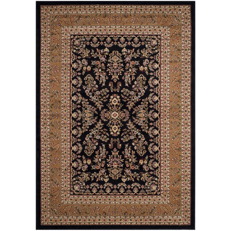 Safavieh Lyndhurst Hamadan Black/Tan Rectangular Indoor Machine-made Oriental Runner (Common: 5 x 7; Actual: 2.25-ft W x 7.5-ft L)