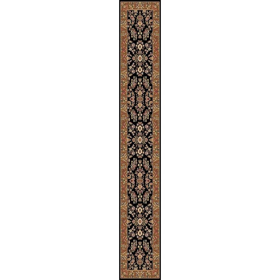 Safavieh Lyndhurst Hamadan Black/Tan Indoor Oriental Runner (Common: 2 x 12; Actual: 2.25-ft W x 12-ft L)