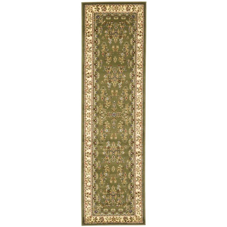 Safavieh Lyndhurst Hamadan Sage/Ivory Indoor Oriental Runner (Common: 2 x 8; Actual: 2.25-ft W x 8-ft L)