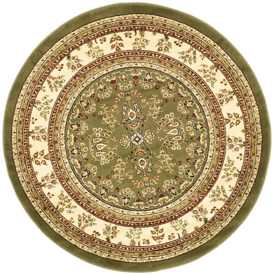 Safavieh Lyndhurst Hamadan Sage/Ivory Round Indoor Oriental Area Rug (Common: 8 x 8; Actual: 8-ft W x 8-ft L x 8-ft dia)