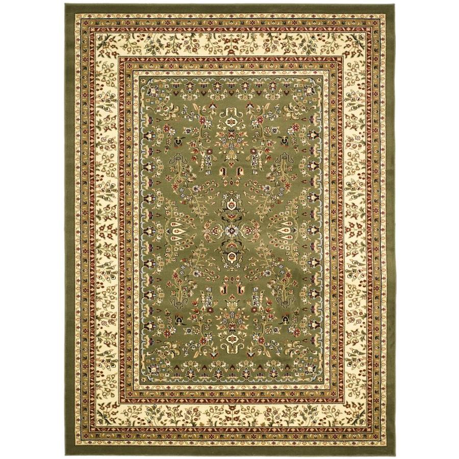 Safavieh Lyndhurst Hamadan Sage/Ivory Indoor Oriental Area Rug (Common: 8 x 11; Actual: 8-ft W x 11-ft L)
