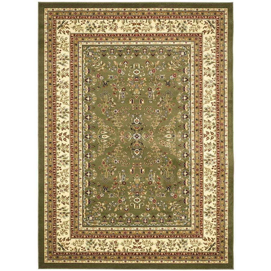 Safavieh Lyndhurst Hamadan Sage/Ivory Indoor Oriental Area Rug (Common: 5 x 8; Actual: 5.25-ft W x 7.5-ft L)